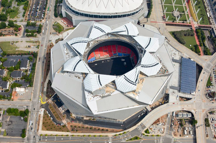 atlanta's mercedes-benz stadium features innovative, retractable roof